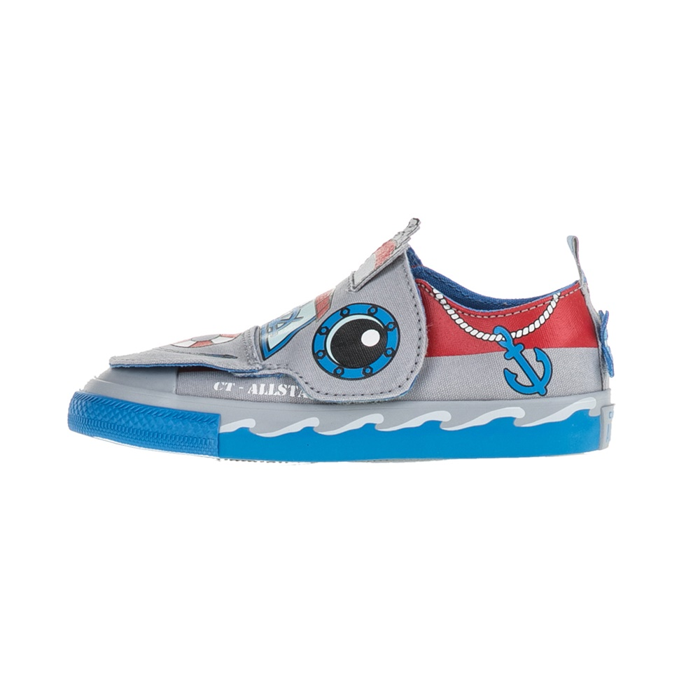 CONVERSE – Βρεφικά sneakers Chuck Taylor All Star Creature γκρι-μπλε