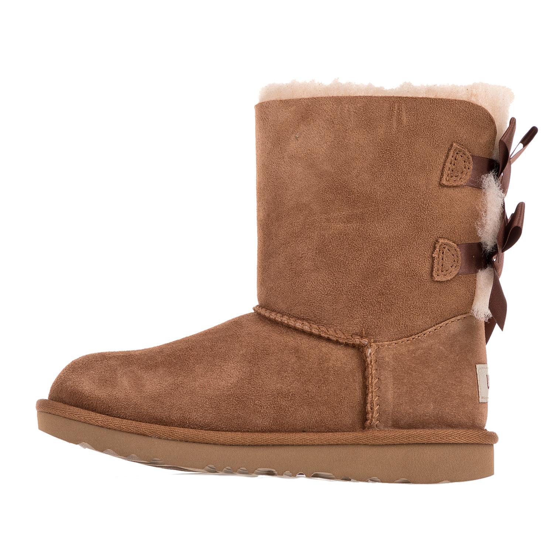 faf855c5823 UGG - Κοριτσίστικες μπότες UGG BAILEY BOW II καφέ - Roe Shoes Collection