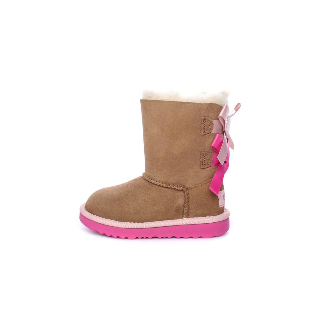 UGG – Παιδικά μποτάκια UGG T BAILEY BOW II καφέ ροζ