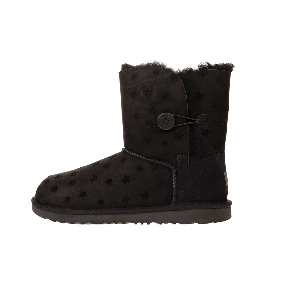 UGG – Παιδικά μποτάκια UGG K BAILEY BUTTON II STARS μαύρα