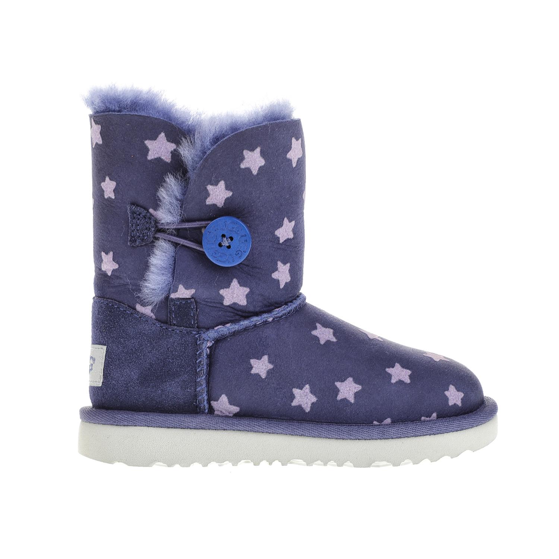 UGG – Κοριτσίστικα μποτάκια UGG BAILEY BUTTON II STARS μοβ