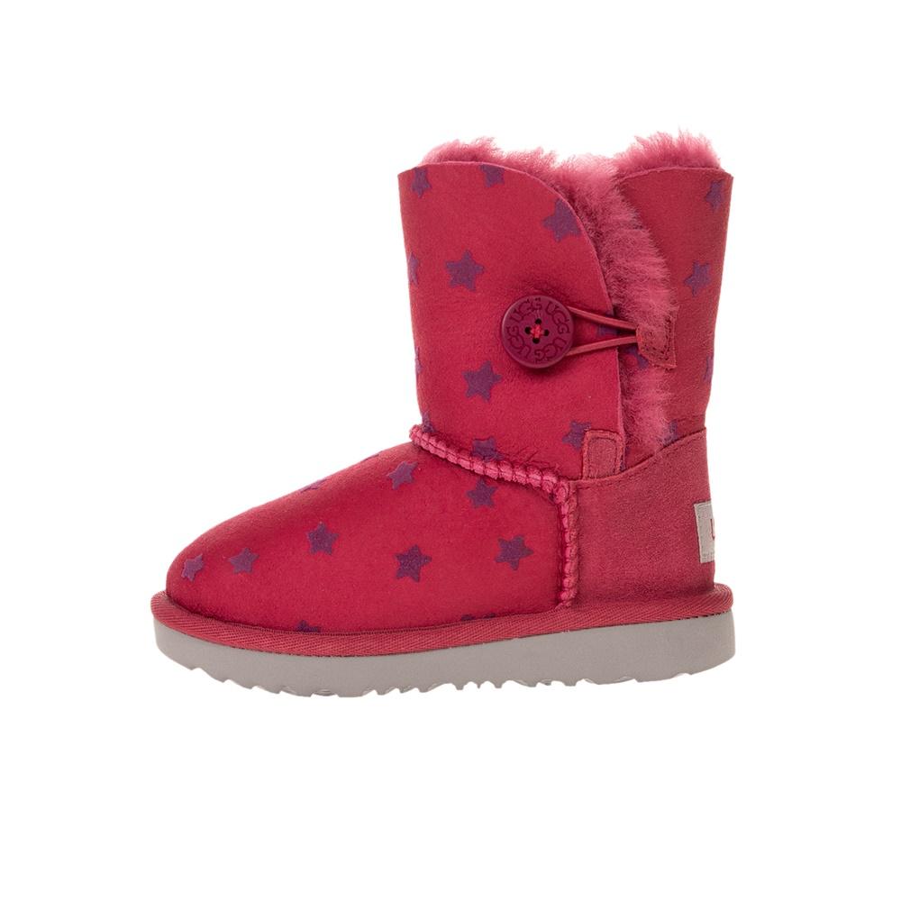 UGG – Παιδικά μποτάκια UGG T BAILEY BUTTON II STARS φούξια μοβ
