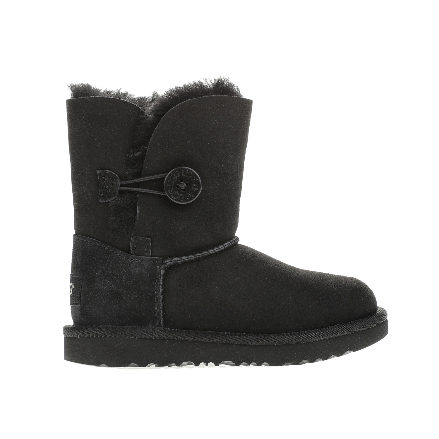 UGG – Κοριτσίστικα μποτάκια UGG BAILEY BUTTON II STARS μαύρα
