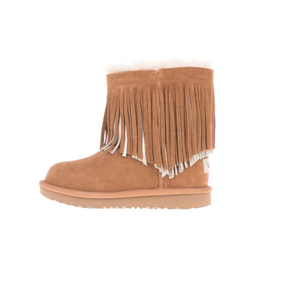 a48b1c00036 UGG - Παιδικά μποτάκια UGG CLASSIC SHORT II FRINGE καφέ • Παπούτσια ...