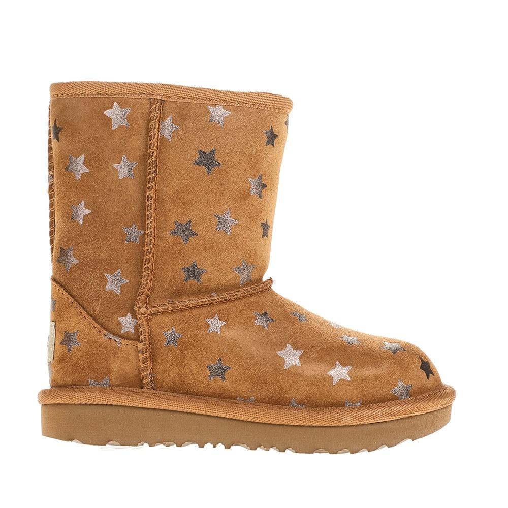UGG - Κοριτσίστικα μποτάκια UGG καφέ με αστέρια παιδικά girls παπούτσια μπότες μποτάκια