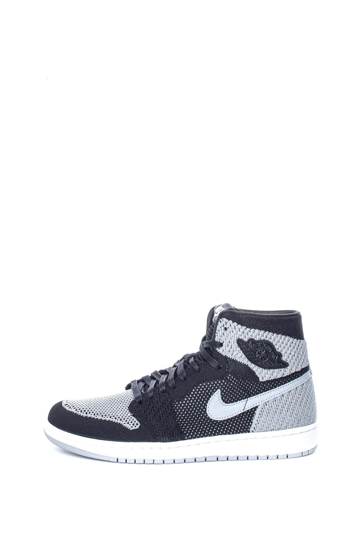 NIKE – Ανδρικά παπούτσια μπάσκετ NIKE AIR JORDAN 1 RETRO HI FLYKNIT μαύρα-γκρι
