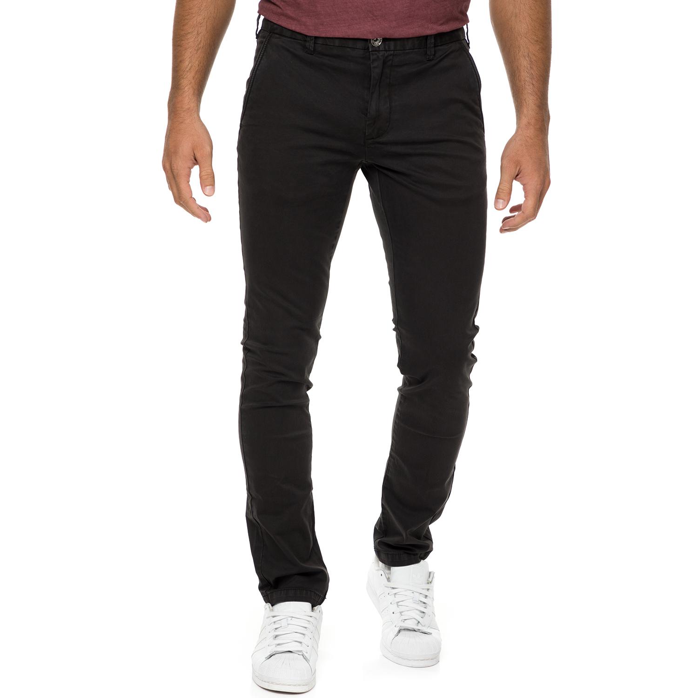 GAS - Ανδρικό chino παντελόνι GAS μαύρο ανδρικά ρούχα παντελόνια chinos