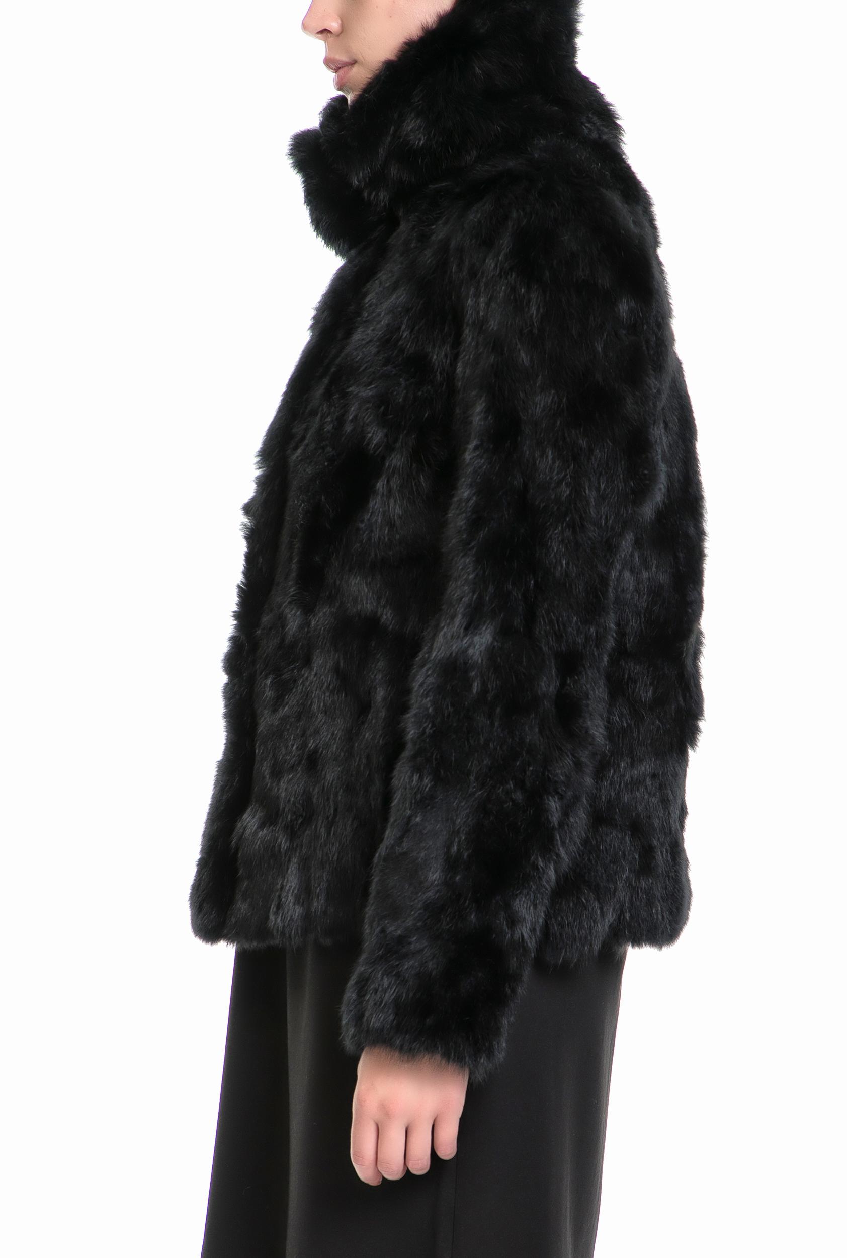 d9f3eace6ffd GAS - Γυναικείο παλτό CAPO SPALLA PELLE DELIZIA GAS μαύρο