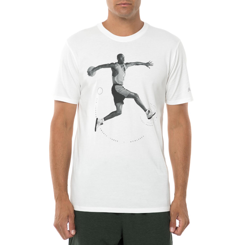NIKE - Ανδρική κοντομάνικη μπλούζα NIKE AJ 5 λευκή ανδρικά ρούχα αθλητικά t shirt