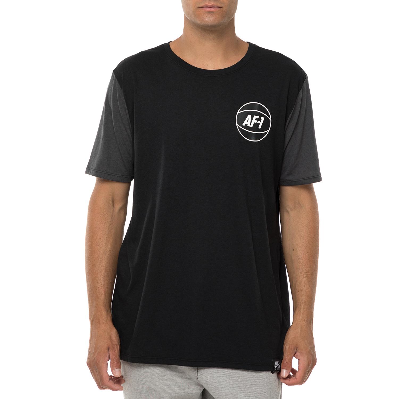 NIKE - Ανδρική κοντομάνικη μπλούζα NIKE ASYM NBA 2 μαύρη-γκρι ανδρικά ρούχα αθλητικά t shirt