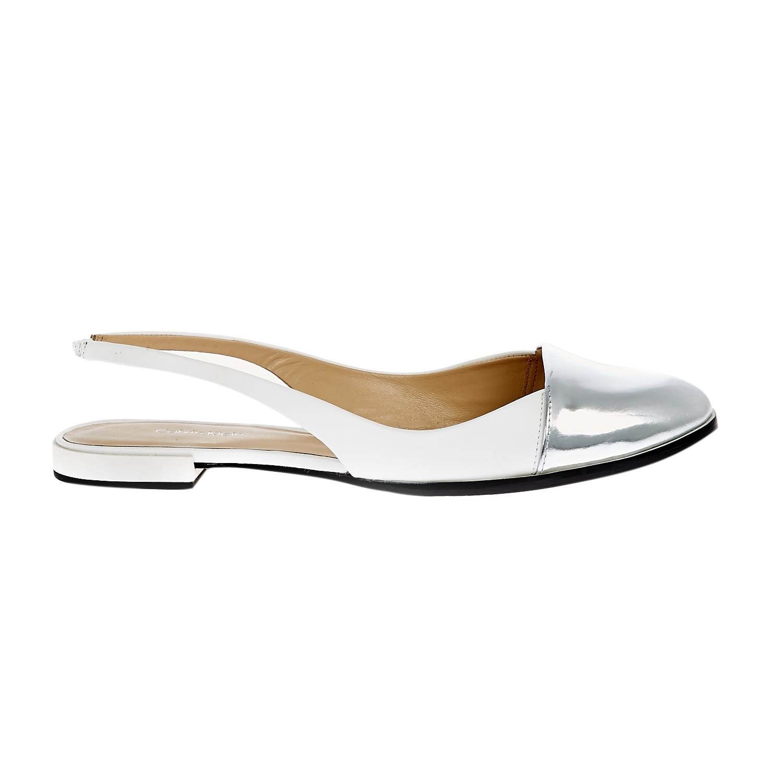 821c345c80f CALVIN KLEIN JEANS - Γυναικεία μοκασίνια Calvin Klein Jeans λευκά