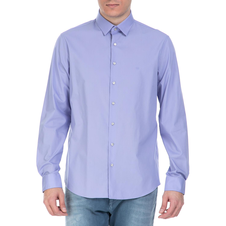CK - Ανδρικό πουκάμισο CK Bari μοβ ανδρικά ρούχα πουκάμισα μακρυμάνικα