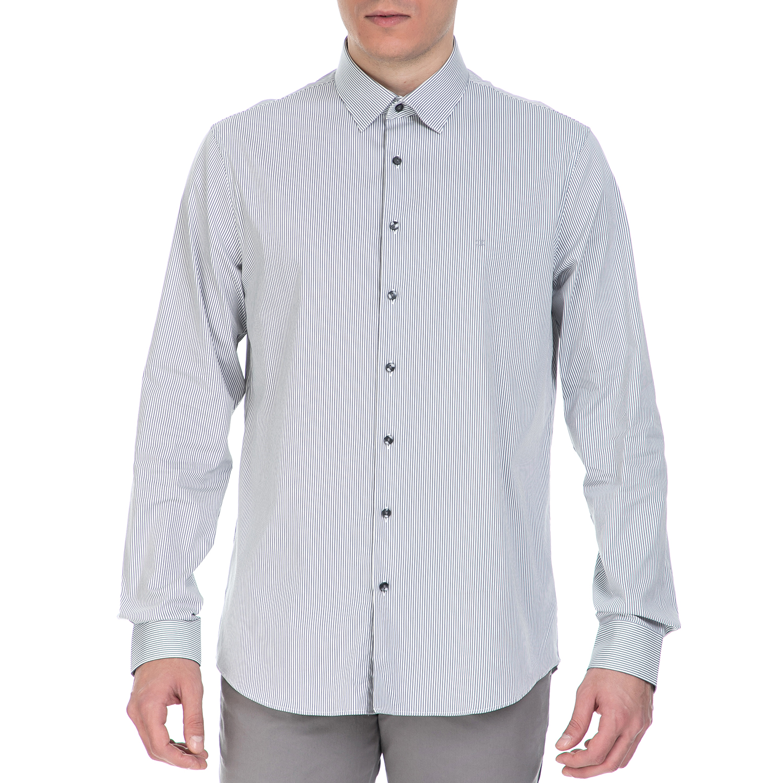 20c906b7a74a CK – Ανδρικό πουκάμισο CK Bari γκρι με ρίγες – Online Ρούχα