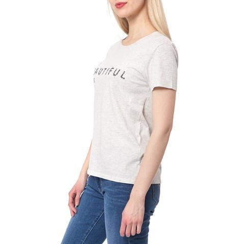 LEVI'S-Γυναικείο t-shirt Levi's THE PERFECT TEE ανοιχτό γκρι μελανζέ