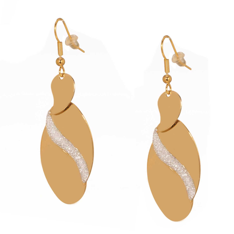 JEWELTUDE - Γυναικεία επίχρυσα σκουλαρίκια Λαχούρια γυναικεία αξεσουάρ κοσμήματα σκουλαρίκια