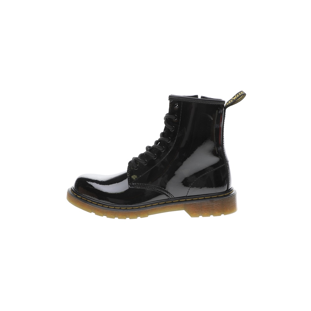DR.MARTENS – Παιδικά μποτάκια DR.MARTENS Patent Y Youth Lace Boot μαύρα