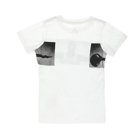 Αγορίστικη κοντομάνικη μπλούζα NIKE KIDS JDB BRANDED λευκή ... 4977b75f97b