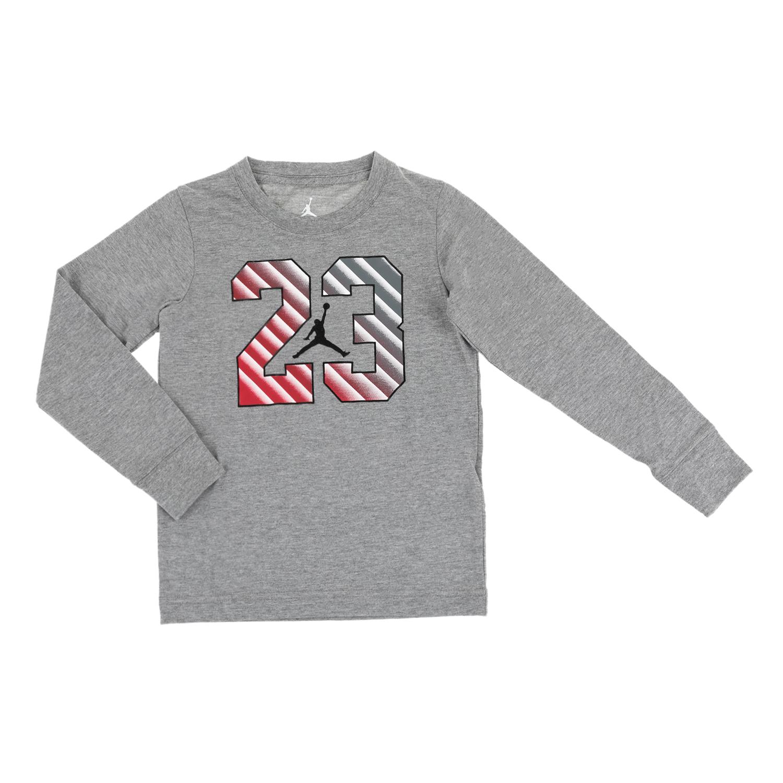 10efb72c969a NIKE KIDS - Αγορίστικη φούτερ μπλούζα JDB 23 STEP γκρι