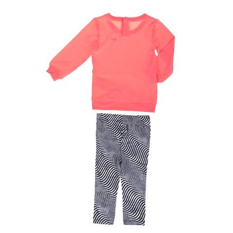 3812667e704 Παιδικό κοριτσίστικο σετ κολάν και μπλούζα NIKE KIDS μαύρο-πορτοκαλί ...