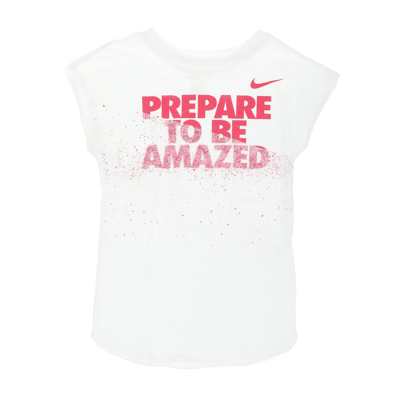 NIKE KIDS - Κοριτσίστικη αμάνικη μπλούζα NIKE KIDS PREPARE TO BE AMAZED λευκή παιδικά girls ρούχα μπλούζες κοντομάνικες αμάνικες