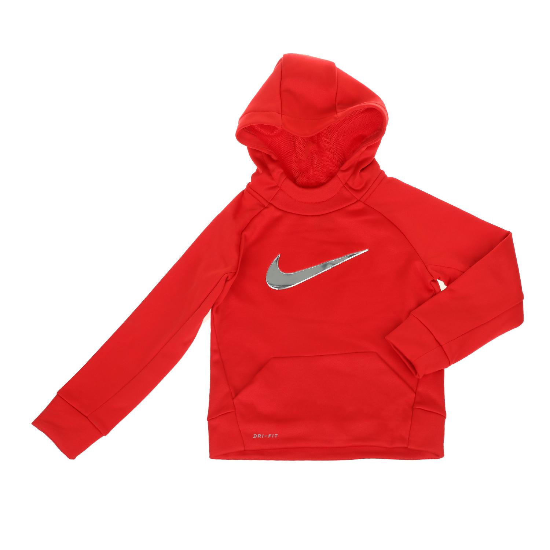 NIKE KIDS - Αγορίστικη μακρυμάνικη μπλούζα NIKE KIDS THERMA κόκκινη