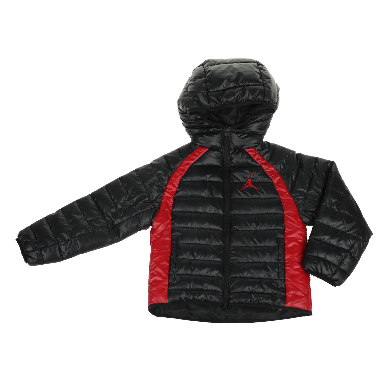 NIKE KIDS - Παιδικό μπουφάν NIKE KIDS AIR JORDAN μαύρο παιδικά boys ρούχα πανωφόρια
