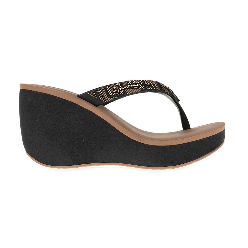 IPANEMA - Γυναικείες σαγιονάρες/πλατφόρμες IPANEMA καφέ-μαύρες γυναικεία παπούτσια σαγιονάρες slides casual