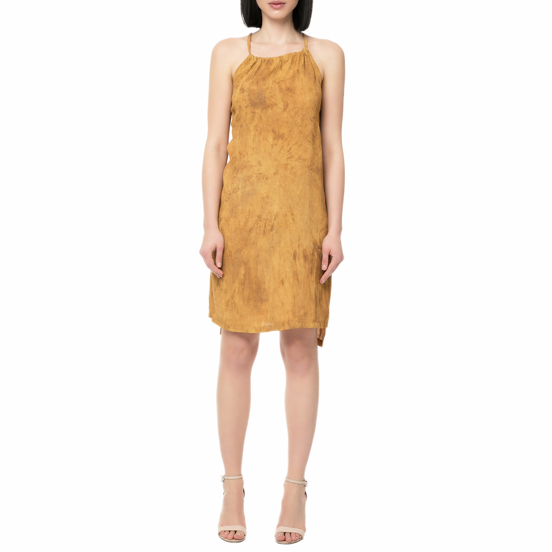 eaf8e3a1b8 LA DOLLS - Γυναικείο μίνι φόρεμα LA DOLLS καφέ ⋆ pressmedoll.gr