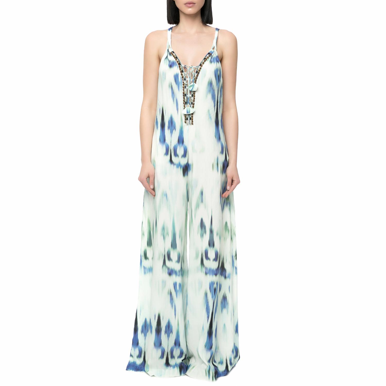 HALE BOB - Γυναικεία ολόσωμη φόρμα HALE BOB γαλάζια - λευκή γυναικεία ρούχα ολόσωμες φόρμες