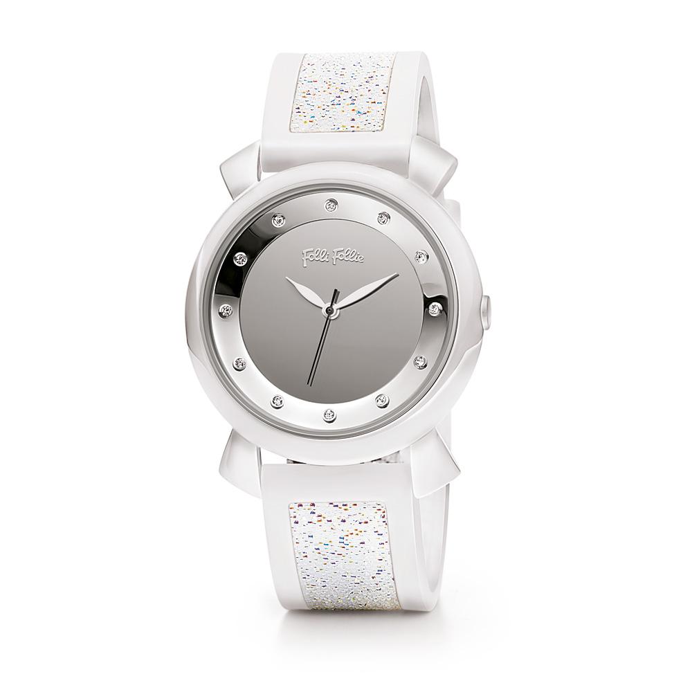 FOLLI FOLLIE – Γυναικείο ρολόι Folli Follie με καουτσούκ λουράκι άσπρο