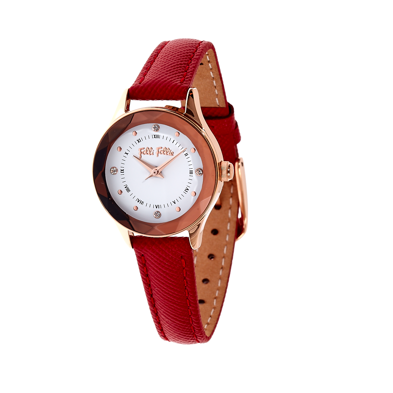 256cb140ad -40% FOLLI FOLLIE – Γυναικείο ρολόι Folli Follie κόκκινο