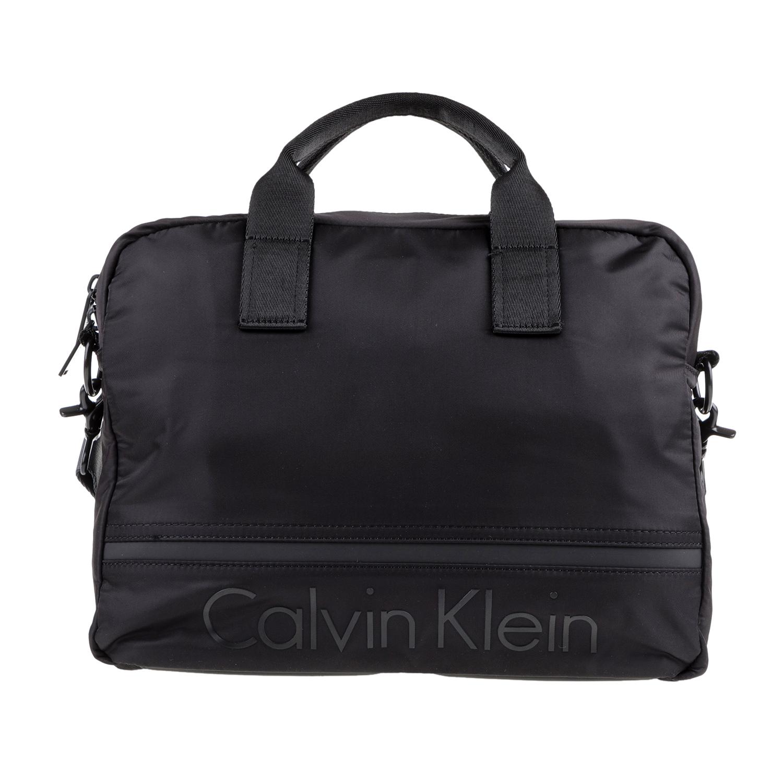 CALVIN KLEIN JEANS - Ανδρική τσάντα για λάπτοπ MATTHEW μαύρη ανδρικά αξεσουάρ τσάντες σακίδια χαρτοφύλακες τσάντες laptop
