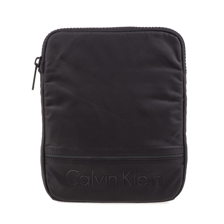 CALVIN KLEIN JEANS - Ανδρικό τσαντάκι χιαστί MATTHEW FLAT μαύρο ανδρικά αξεσουάρ τσάντες σακίδια ωμου
