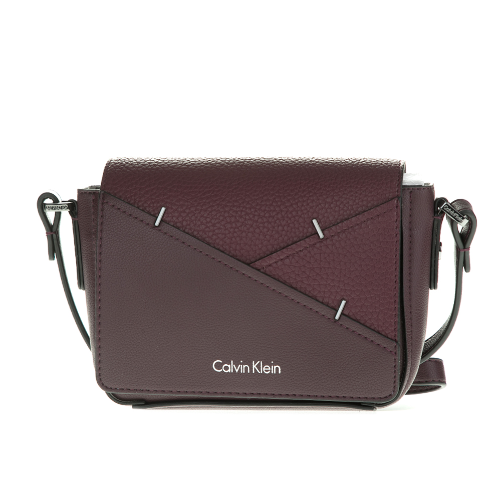 CALVIN KLEIN JEANS – Γυναικεία τσάντα LUNA SMALL CROSSBODY STAPLER μπορντό-μοβ  1564416.0-00Q2 5c7842918de