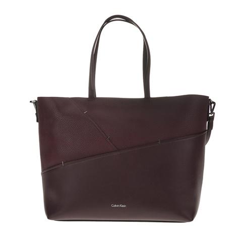 Γυναικεία τσάντα LUNA MEDIUM TOTE STAPLER μπορντό-μοβ - CALVIN KLEIN JEANS  (1564419.0-00q2)  23f414e4329