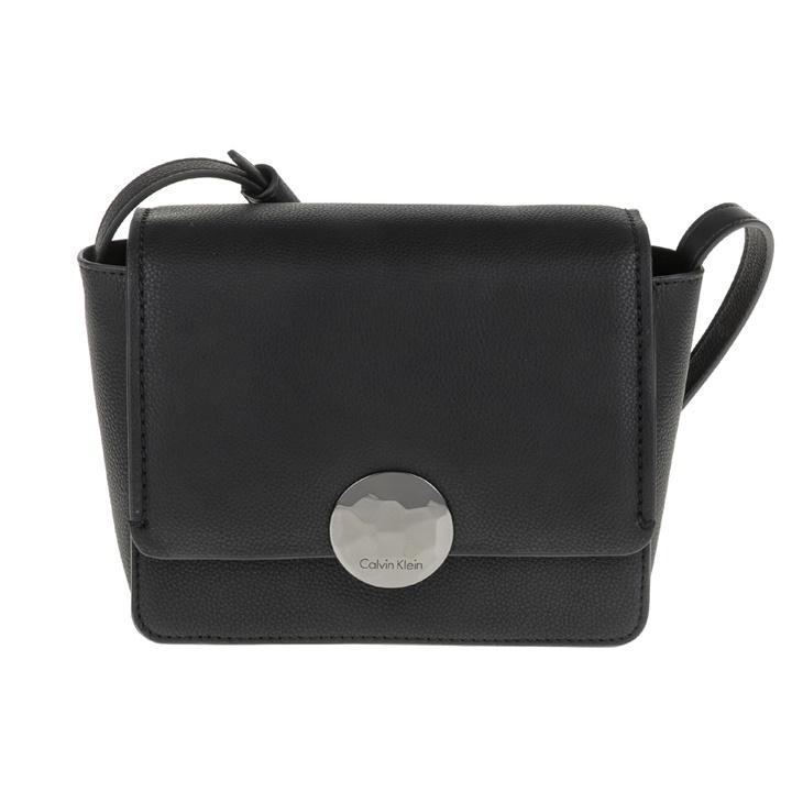 af39f5adb4 Γυναικεία τσάντα χιαστί OLIVIA FLAP CROSSBODY μαύρη - CALVIN KLEIN ...