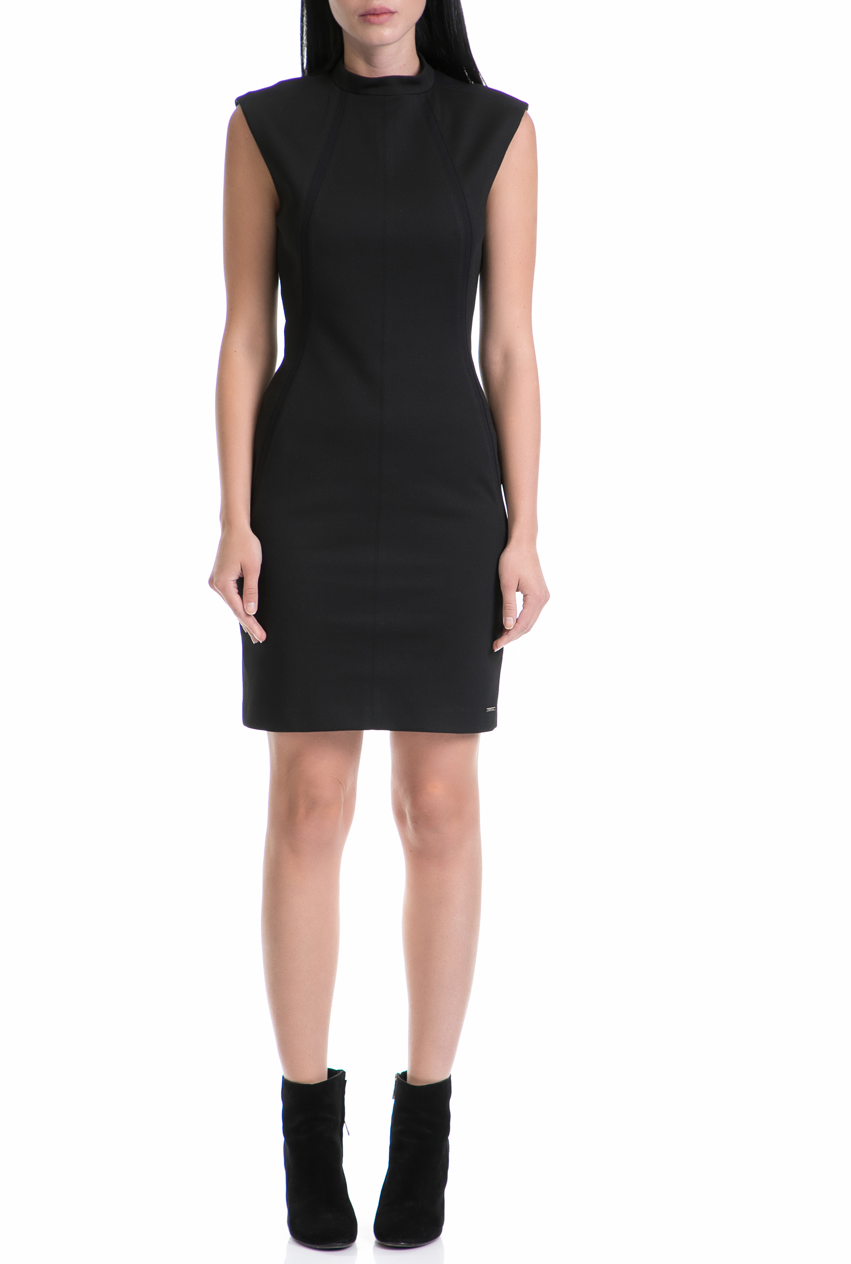 CALVIN KLEIN JEANS - Γυναικείο φόρεμα DAYAS CALVIN KLEIN JEANS μαύρο γυναικεία ρούχα φορέματα μίνι