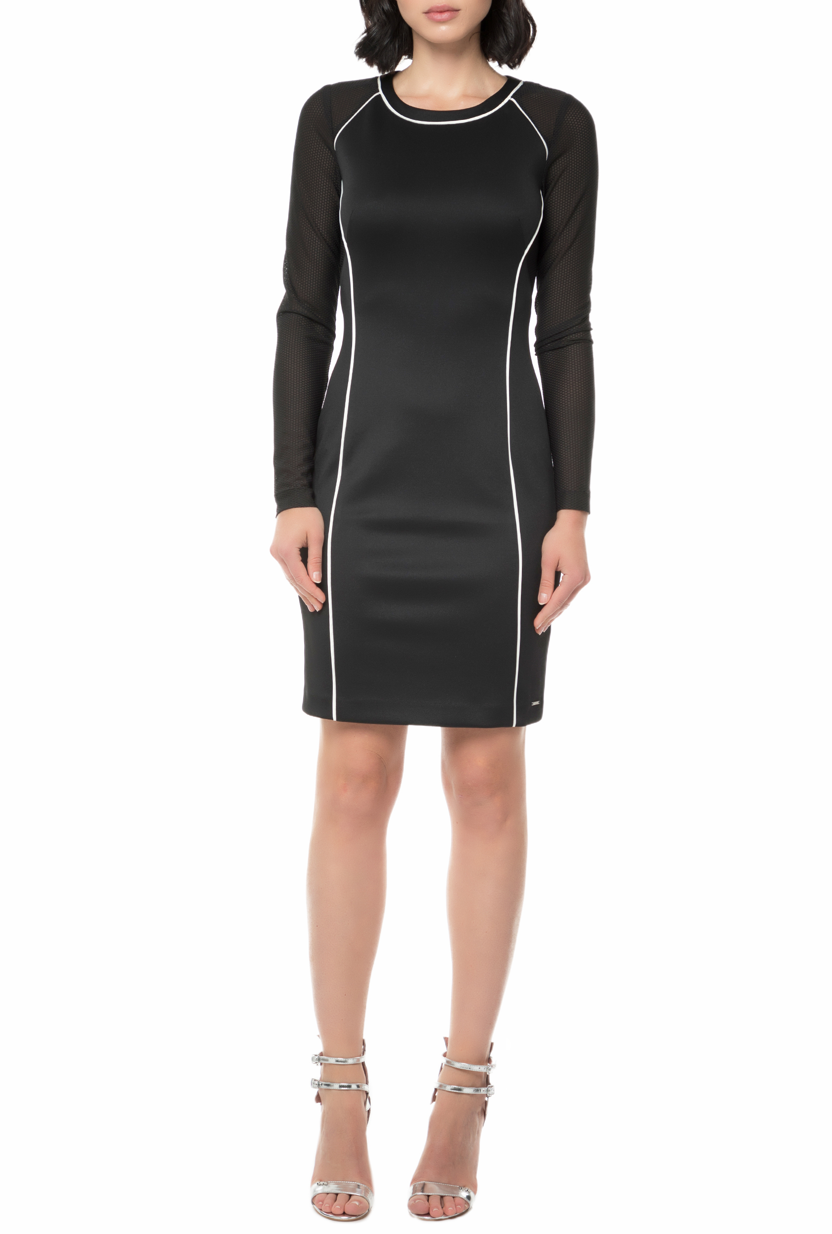 CALVIN KLEIN JEANS - Γυναικείο μίνι φόρεμα CALVIN KLEIN JEANS DEVYN μαύρο γυναικεία ρούχα φορέματα μίνι