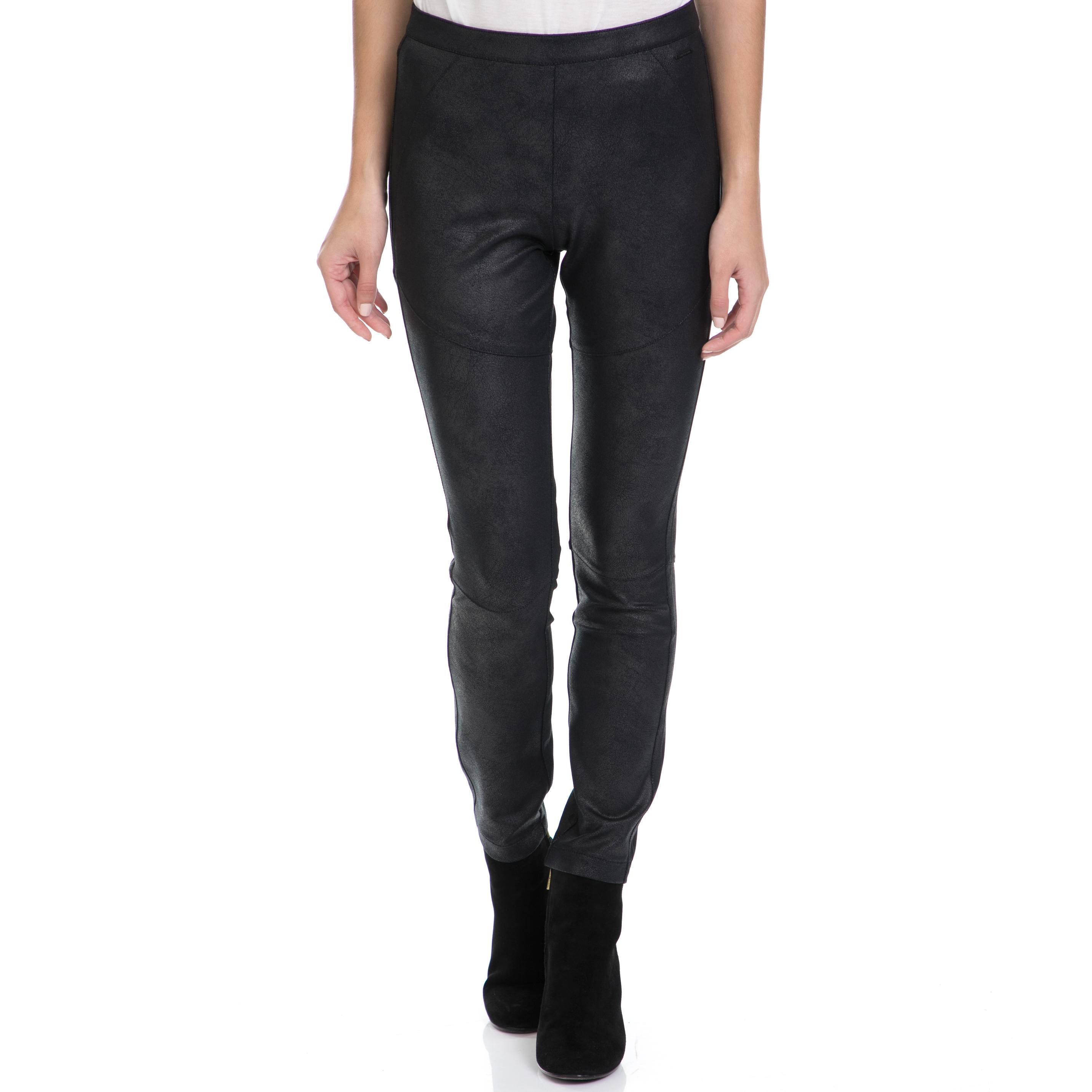 CALVIN KLEIN JEANS - Γυναικείο παντελόνι POMAR HWK COATED MILANO μαύρο γυναικεία ρούχα παντελόνια skinny