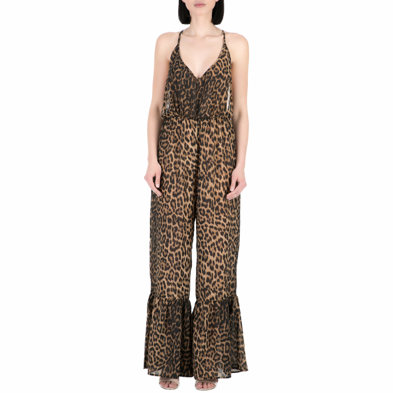 GUESS - Γυναικεία ολόσωμη φόρμα Guess λεοπάρ γυναικεία ρούχα ολόσωμες φόρμες