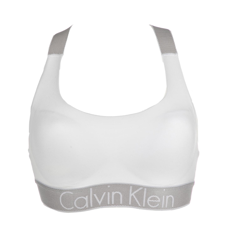 CK UNDERWEAR – Γυναικείο αθλητικό σουτιέν Calvin Klein LIGHTLY LINED  BRALETTE λευκό c5546a91191
