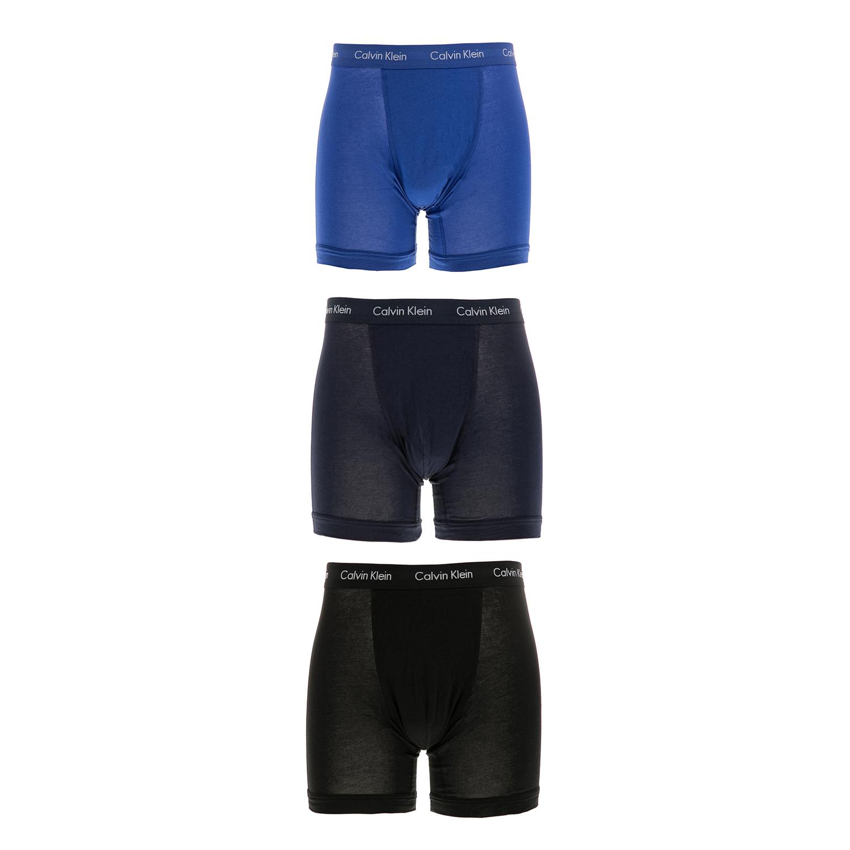 CK UNDERWEAR - Ανδρικό σετ μπόξερ Calvin Klein μπλε-μαύρα ανδρικά ρούχα εσώρουχα μπόξερ