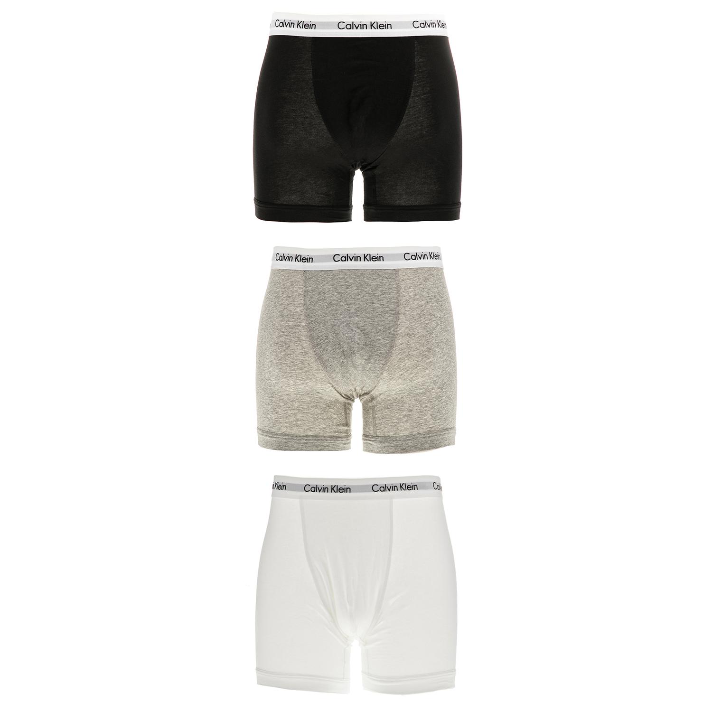 CK UNDERWEAR - Ανδρικό σετ μπόξερ Calvin Klein λευκά-μαύρα-γκρι ανδρικά ρούχα εσώρουχα μπόξερ