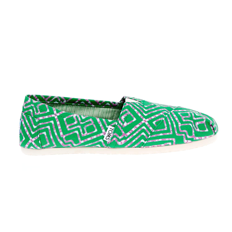 TOMS – Γυναικείες εσπαντρίγιες Geometric Tie Dyed πράσινες
