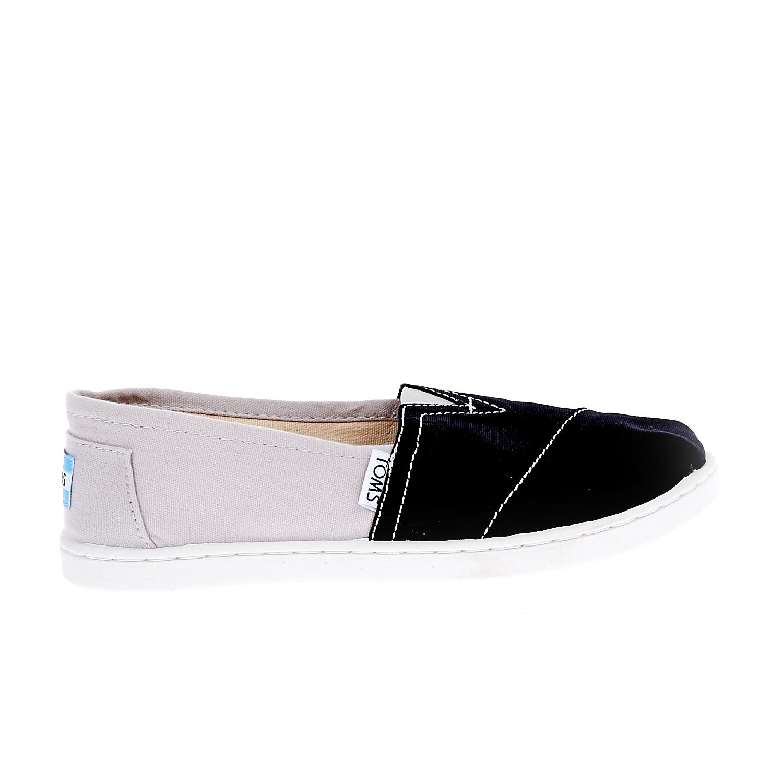 TOMS - Παιδικές εσπαντρίγιες TOMS μαύρες-γκρι παιδικά boys παπούτσια εσπαντρίγιες slip on