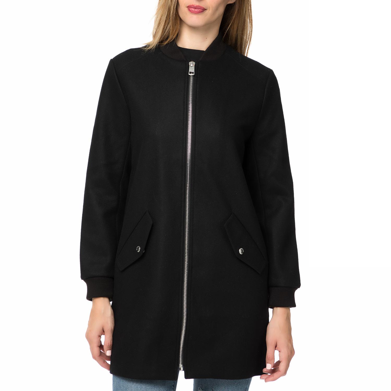 CALVIN KLEIN JEANS - Γυναικείο μακρύ πανωφόρι CALVIN KLEIN JEANS μαύρο γυναικεία ρούχα πανωφόρια μπουφάν