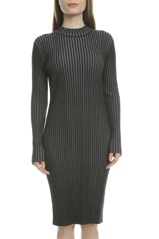 CALVIN KLEIN JEANS - Γυναικείο φόρεμα SUTTON CALVIN KLEIN JEANS μαύρο γυναικεία ρούχα φορέματα μέχρι το γόνατο