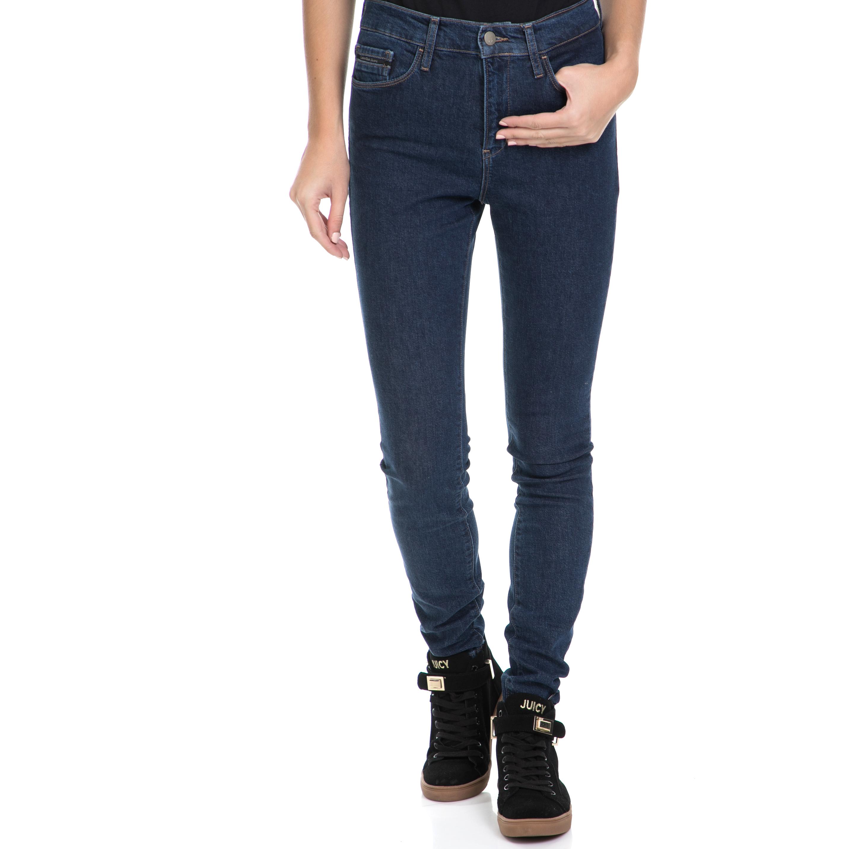 CALVIN KLEIN JEANS - Γυναικείο τζιν παντελόνι High Rise Skinny - Bice Dark μπλε γυναικεία ρούχα τζίν skinny