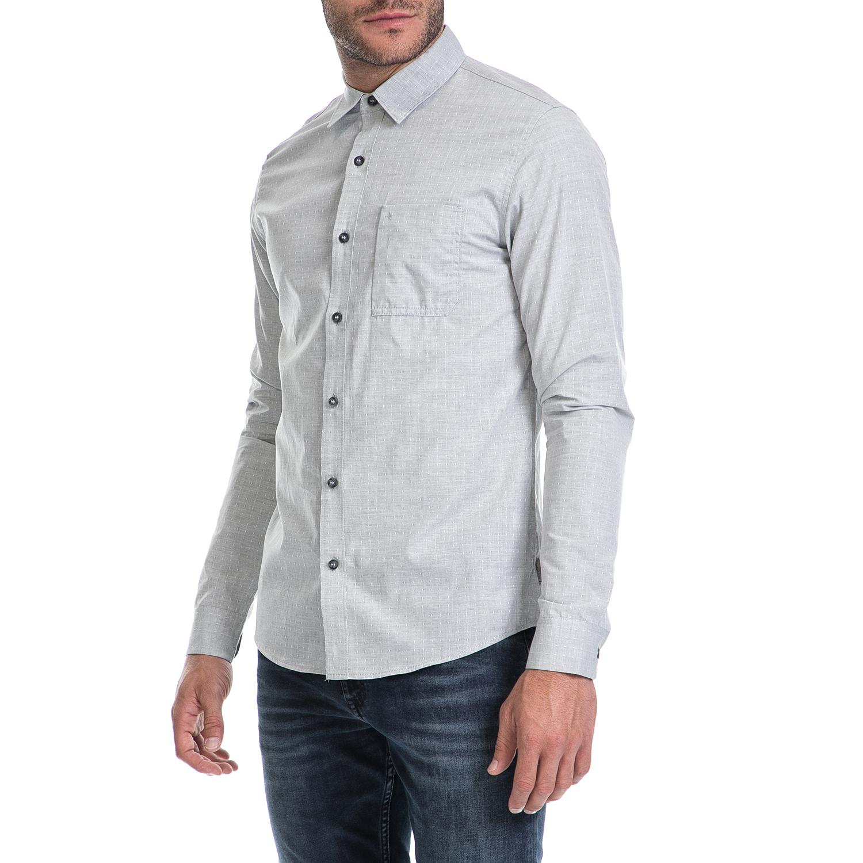 0a0c2fdc281a CALVIN KLEIN JEANS - Ανδρικό πουκάμισο WILBENS 2 HEATHER DOBBY γκρι ...