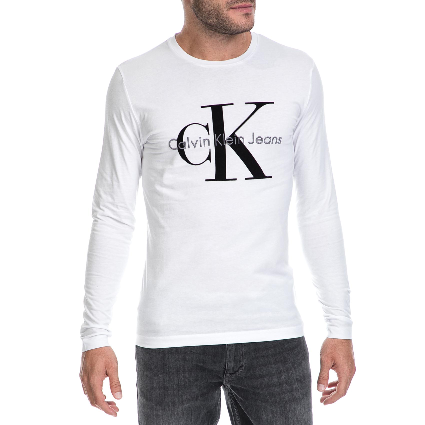 4f24cb81ba7c CALVIN KLEIN JEANS - Ανδρική μπλούζα TRIBUTO CN λευκή